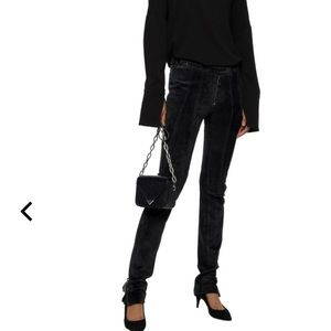 NWT Originally $2200 Belstaff black suede pant